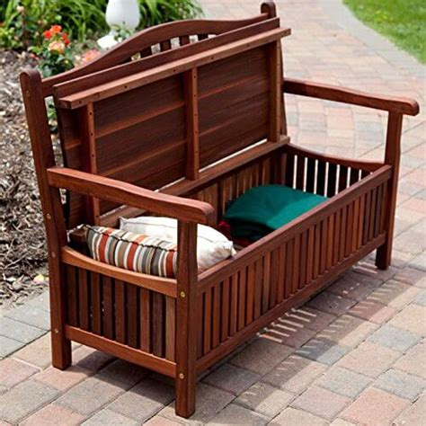 Living Storage Bench by Belham Living Richmond 51 In Curved Back Outdoor Wood