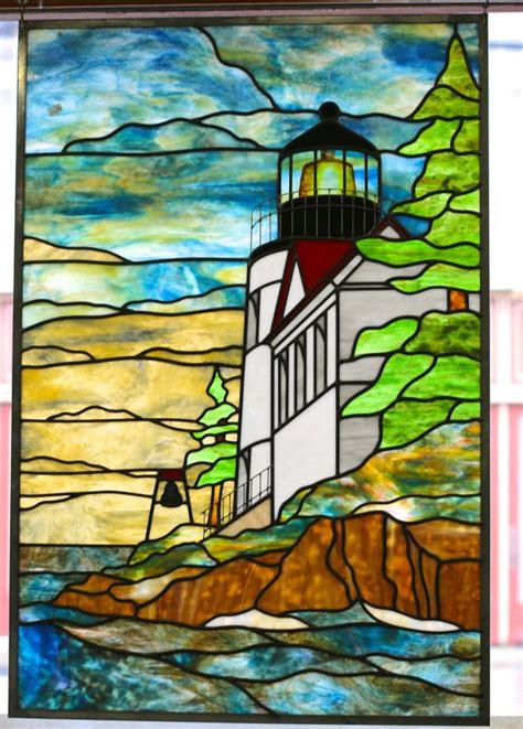 stained glass lighthouse l 67 best stained glass lighthouse images on pinterest