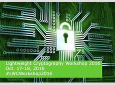 Lightweight Cryptography Workshop 2016 NIST