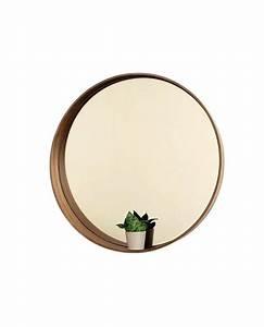 Holz Spiegel Rund : spiegel rund holz mit holzrahmen badezimmerspiegel 50 cm ~ Frokenaadalensverden.com Haus und Dekorationen