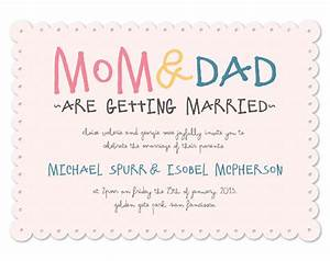 wedding invitations mom dad are getting married at With wedding invitation wording mummy and daddy