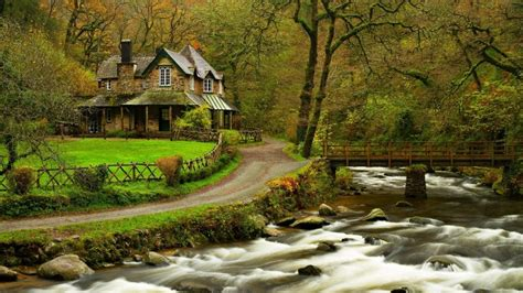 house in the woods hd wallpaper wallpaperfx