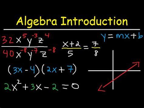 algebra introduction basic overview  crash