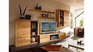 Wohnwand Massiv Modell Wohndesign