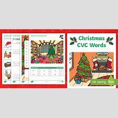 * New * Christmas Cvc Word Activity Booklet  Phase 2, Phonics