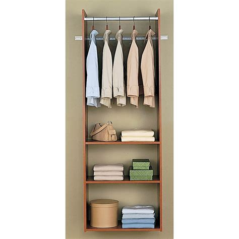 easy track closet cherry hanging tower kit wood closet