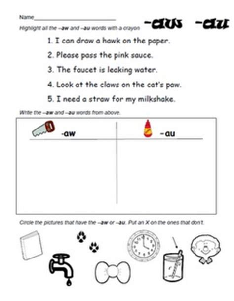 9 best images about word work aw au on vowel