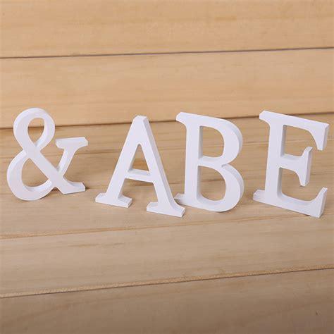 white wooden letters 26 white wooden letters alphabet wall hanging shop wedding