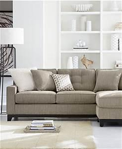 clarke fabric sectional sofa living room furniture sets With clarke fabric sectional sofa 2 piece