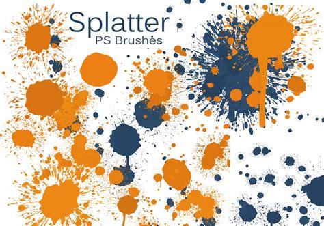 color splatter 20 color splatter ps brushes abr vol 7 free photoshop