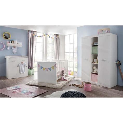 cdiscount chambre bébé complète ronja chambre bébé complète 3 pièces lit armoire