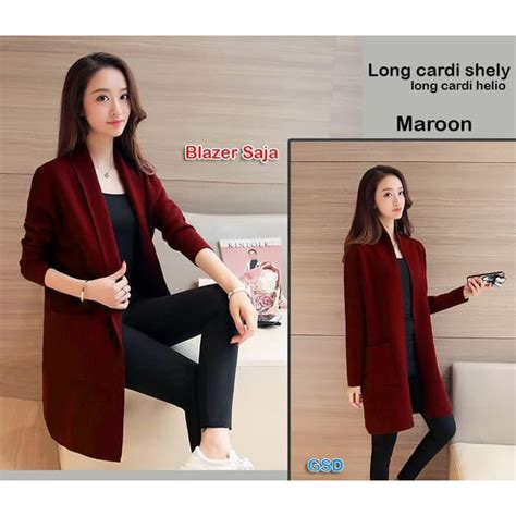 promo 6469 outer cape blazer cape cardigan wanita baju