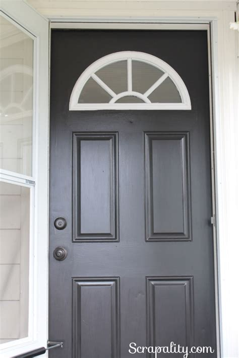 Paint The Front Door Before And After Scrapality