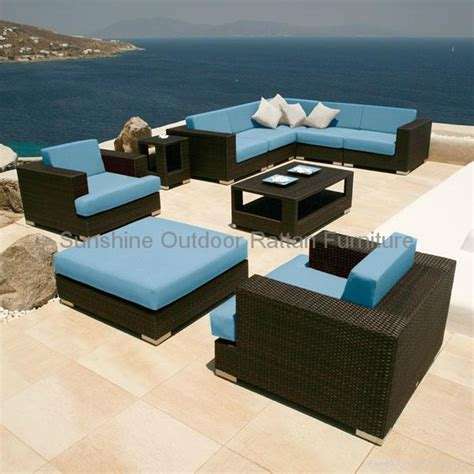 woven wicker seating set terrace outdoor furniture