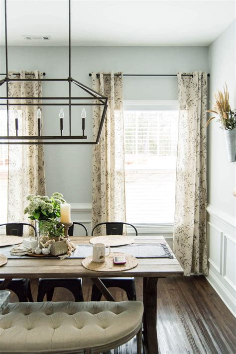 perfect farmhouse floral curtains  curtain hanging