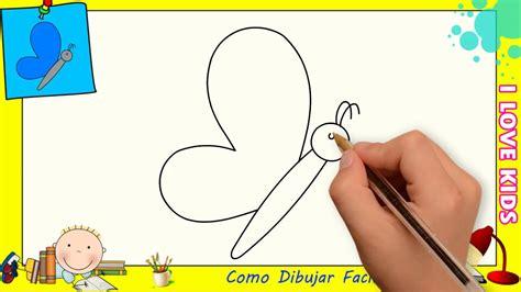 Como dibujar una mariposa FACIL paso a paso para niños y