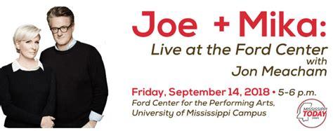 The Ford Center Hosts Morning Joe Talk Show Anchors Joe