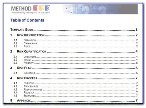 word table  contents template teknoswitch