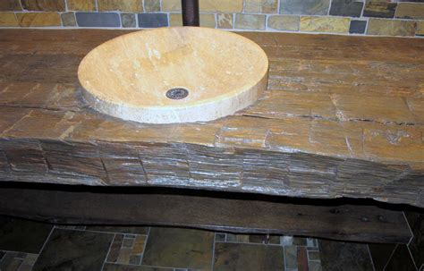 custom rustic bathroom vanity countertop reclaimed