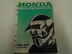 1986 1987 1988 1989 Honda Xr250r Service Shop Repair