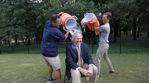 Oral Roberts University President Completes Ice Bucket