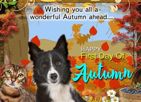 First Day Of Fall 2019 cute  nice autumn card     day 550 x 400 · animatedgif