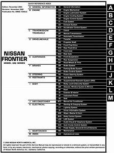 2005 Nissan Frontier Model D40 Series Service    Workshop Repair Manual  Pdf Download