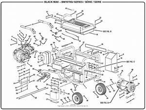 Homelite Bm10700j 7000 Watt Generator Parts Diagram For