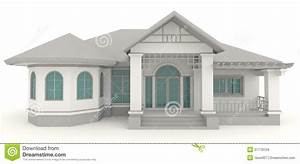 3d retro house architecture exterior design in whi stock With simulation construction maison 3d gratuit