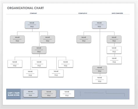 organization chart templates  word smartsheet