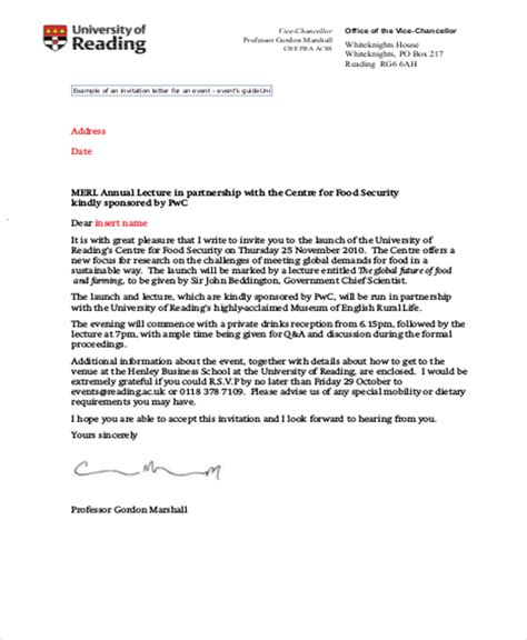 invitation letter 11 sle formal invitation letters word pdf pages sle templates