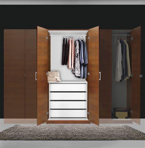 2 Door Wardrobe Closet by Alta Wardrobe Closet 2 Doors 4 Interior Drawers
