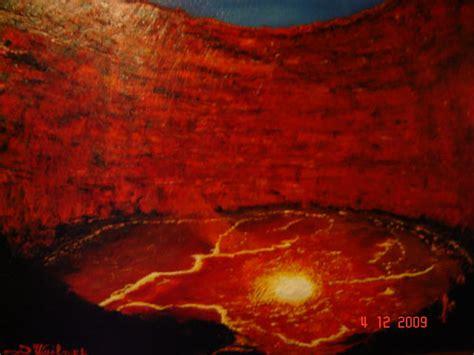 tableau impressionnisme volcan
