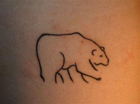 simple bear  art tattoo cute tattoos tattoos  art tattoos bear tattoos