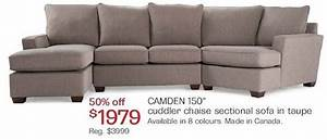 Camden 150quot cuddler chaise sectional sofa 197900 50 for Sectional sofa with cuddler and chaise