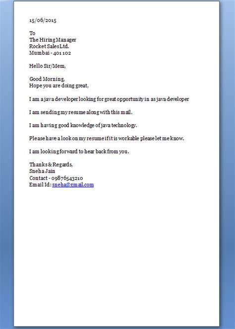 start  cover letter