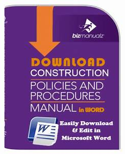 Construction Company Policies And Procedures Manual Template
