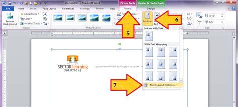word letterhead button margins custom arrange position graphics select bottom layout locking suck learning options