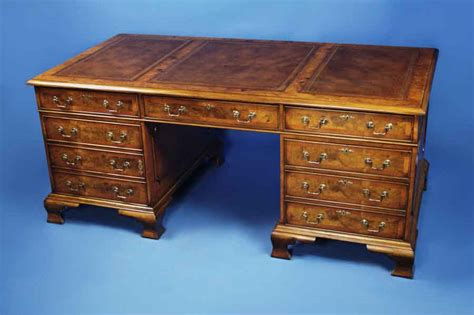 partners desk for sale antique style english walnut partners desk for sale