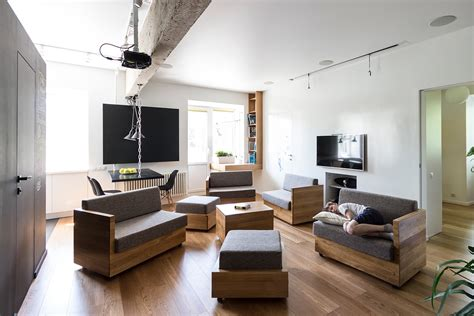 Apartment Furniture by Amazingly Modular Small Family Apartment With Lots Of