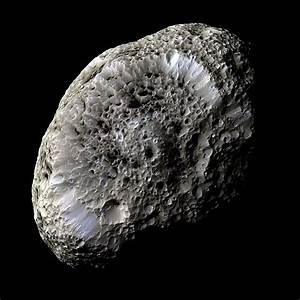 A false-color view of Saturn's moon Hyperion taken during ...