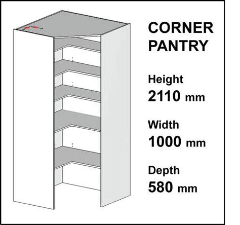 kitchen cupboards corner pantry carcass diy flatpack 2110mmh 1000mm w 580mmd ebay