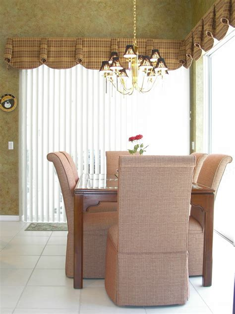 valances for vertical blinds Spaces with bay window