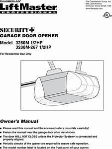 Liftmaster Professional 1 2 Hp Garage Door Opener Manual