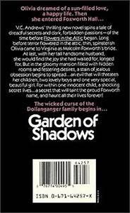 Garden of Shadows back cover - V.C. Andrews Photo ...