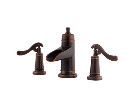 Pfister Ashfield Widespread Bath Faucet-rustic Bronze