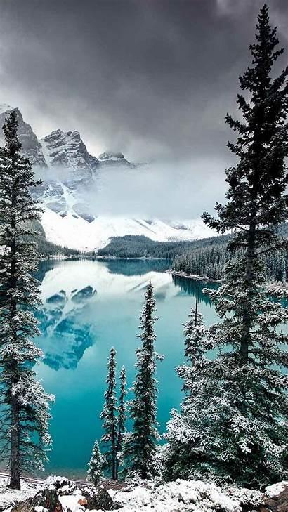 Iphone Zen Wallpapers Lake Xs Winter Nature