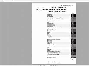 Toyota Corolla  Usa   2006  Electrical Wiring Diagram