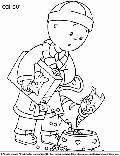 Caillou Coloring Pages Printable Library Canadian Sarah