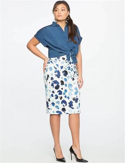 Skirt Pencil Plus Skirts Neoprene Petite Eloquii